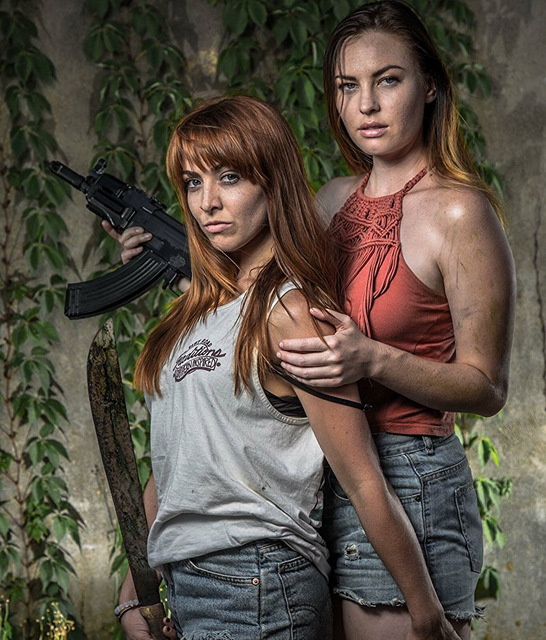 attack of the southern fried zombies review - lesbians trish and jennifer