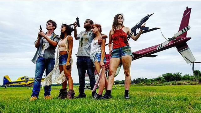 attack of the southern fried zombies review -lonnie, kayla, trish, robbie, jennifer