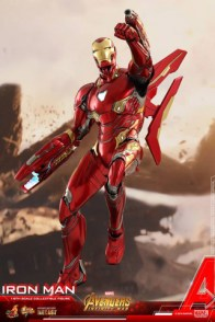 hot toys avengers infinity war iron man figure -flying