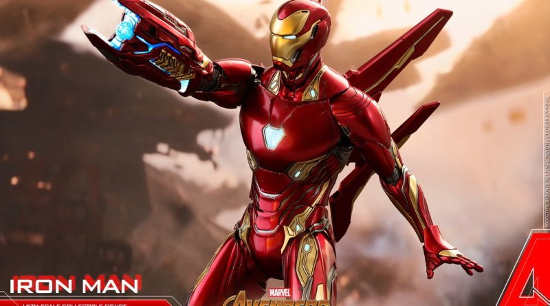 hot toys avengers infinity war iron man figure -wide shot
