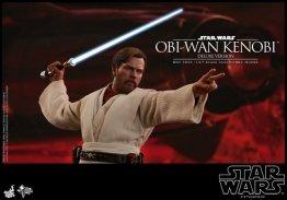 hot toys revenge of the sith obi wan kenobi figure -battle stance
