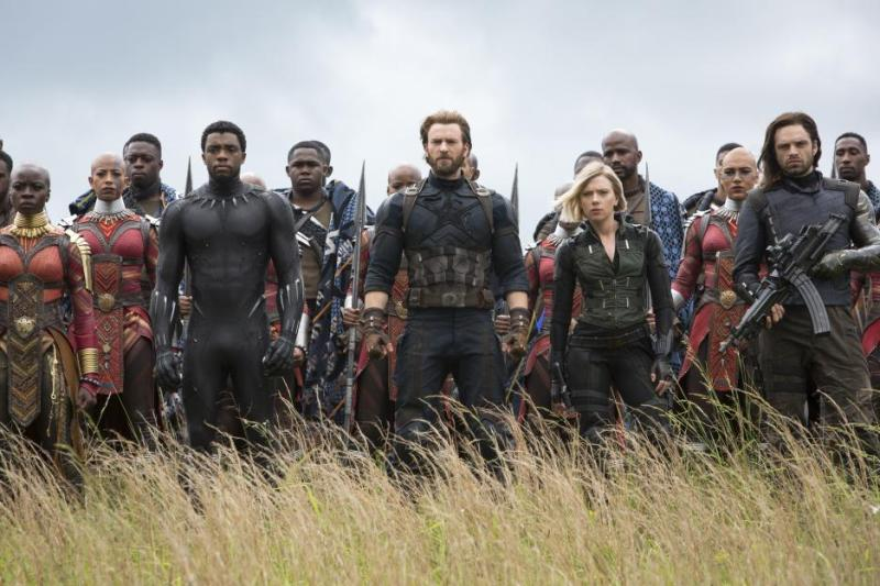 infinity war - black panther, captain america, black widow and winter soldier