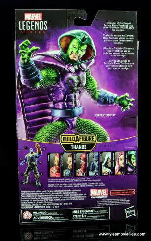 marvel legends king cobra figure review - package rear