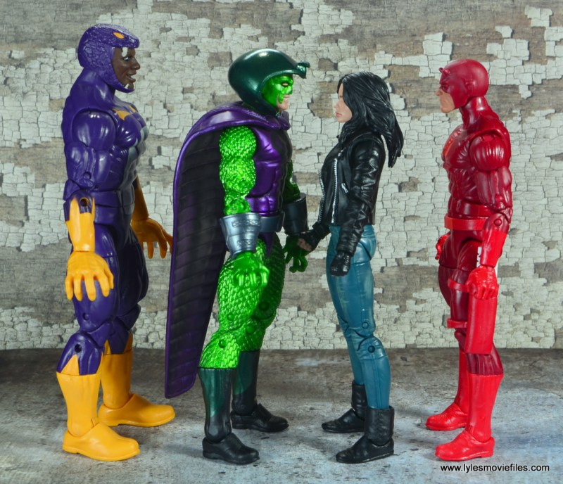 marvel legends king cobra figure review - scale with cottonmouth, jessica jones and daredevil