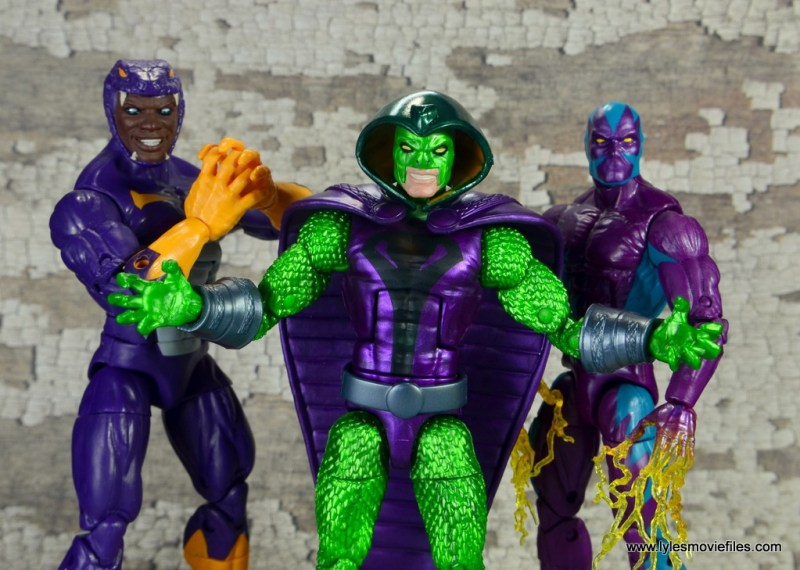 marvel legends king cobra figure review - serpent society - cottonmouth and eel