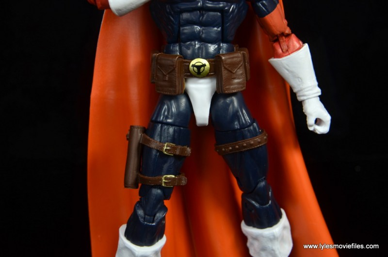 marvel legends taskmaster figure review - holster and belt detail