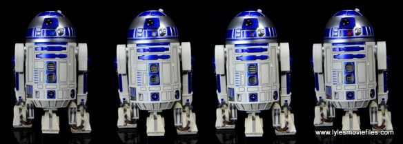 sh figuarts r2d2 figure review -front lights