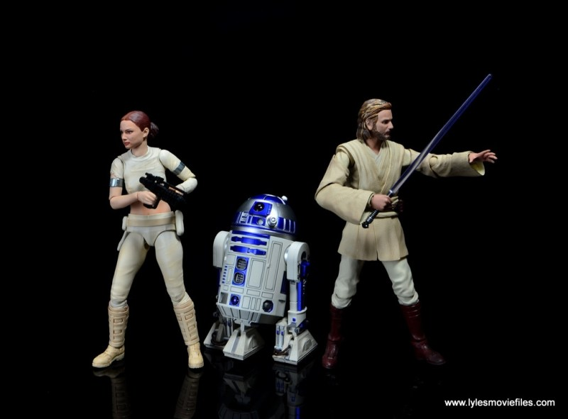 sh figuarts r2d2 figure review - with padme and obi-wan kenobi