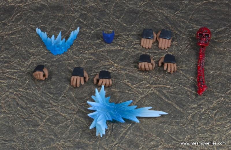 storm collectibles mortal kombat sub-zero figure review -accessories