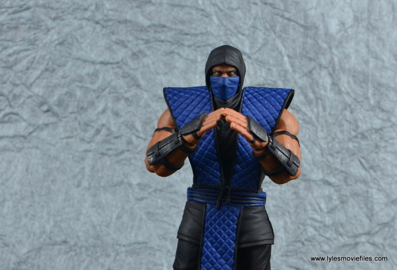 storm collectibles mortal kombat sub-zero figure review - hands together