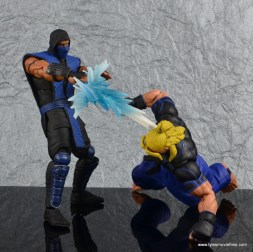 storm collectibles mortal kombat sub-zero figure review - ice blast to ken head