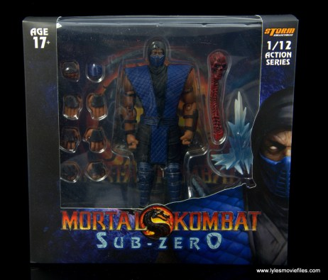 storm collectibles mortal kombat sub-zero figure review - package front