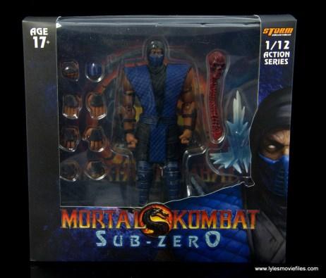 storm collectibles mortal kombat sub-zero figure review - package front