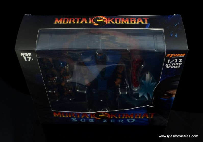 storm collectibles mortal kombat sub-zero figure review - package top