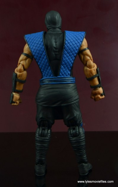 storm collectibles mortal kombat sub-zero figure review - rear