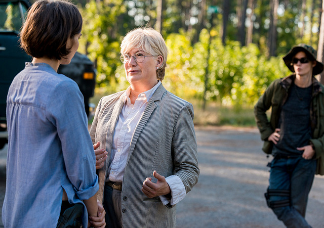 the walking dead the key review -maggie and georgie
