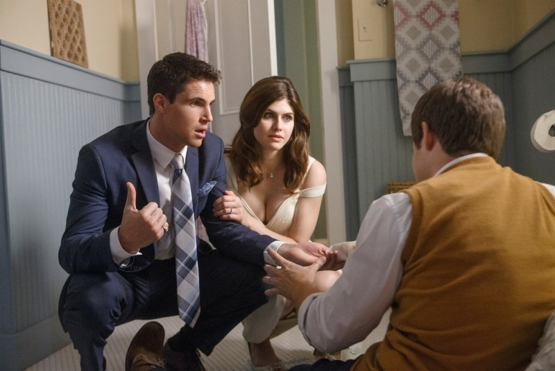 when we first met review - robbie amell, alexandra daddario and adam devine