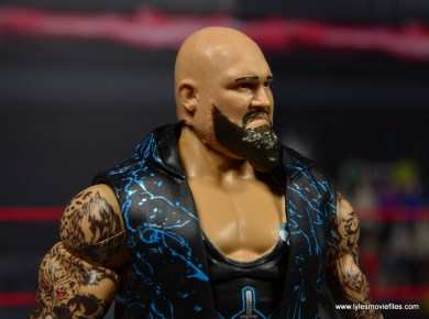 wwe elite 56 karl anderson and luke gallows figure review -gallows beard right side