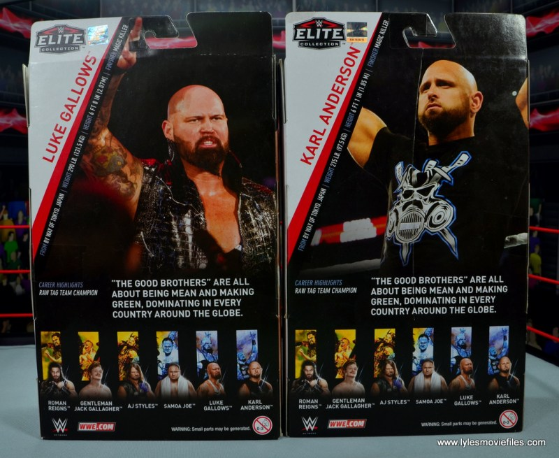 wwe elite 56 karl anderson and luke gallows figure review -package rear