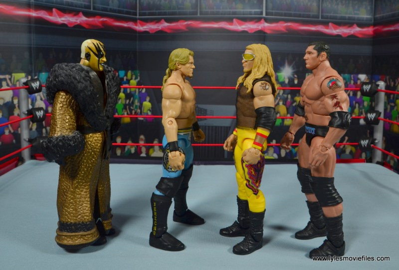 wwe ringside collectibles chris jericho figure review -scale with golddust, christian and batista
