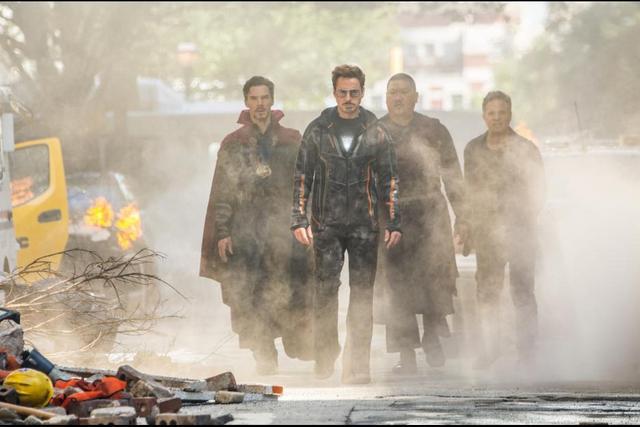 avengers infinity war movie review - doctor strange, tony stark, bruce banner and wong