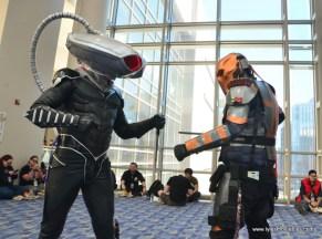 awesome con 2018 cosplay -black manta vs deathstroke