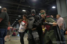 awesome con 2018 cosplay -harley quinn, batman and robin