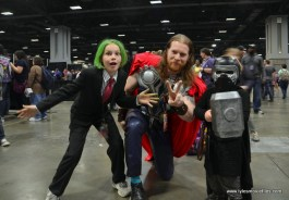 awesome con 2018 cosplay -kid joker, thor and kid kylo ren