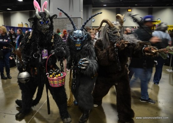 awesome con 2018 cosplay -krampus trio