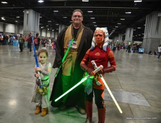 awesome con 2018 cosplay -rey, jedi and ashoka
