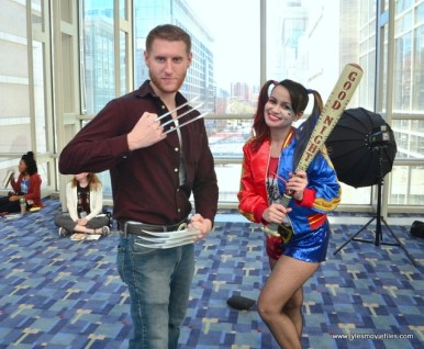 awesome con 2018 cosplay -wolverine and harley quinn