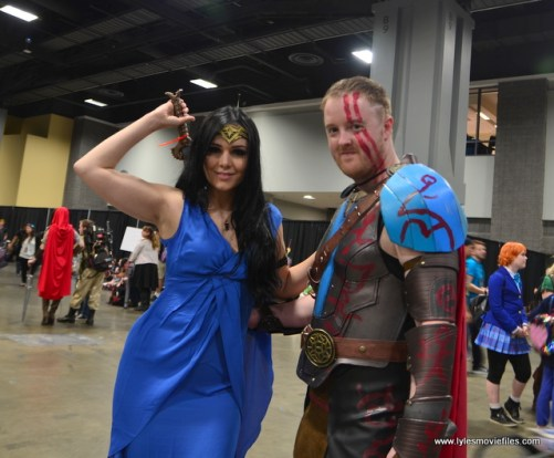 awesome con 2018 cosplay -wonder woman diana and thor
