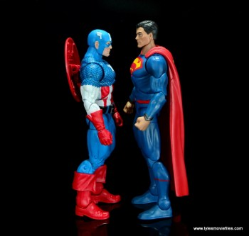 dc multiverse superman rebirth figure review - face to face with captain america