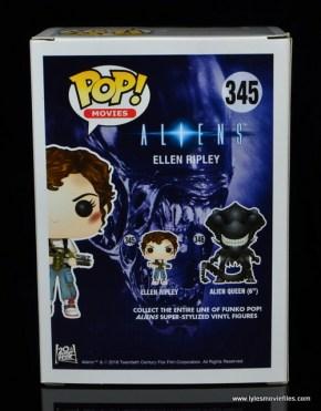 funko pop aliens ripley figure review -package rear