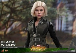 hot toys avengers infinity war black widow -outfit detail