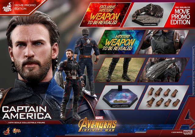 hot toys avengers infinity war captain america -deluxe collage
