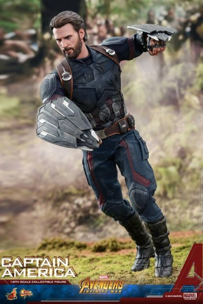 hot toys avengers infinity war captain america -running