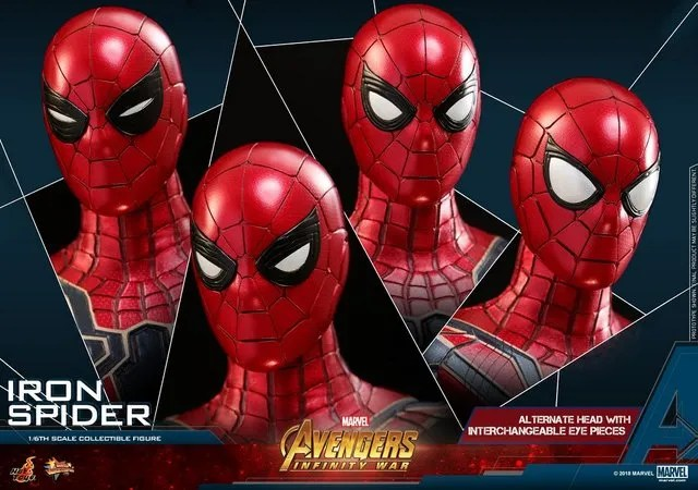 hot toys avengers infinity war iron spider-man figure -expressions