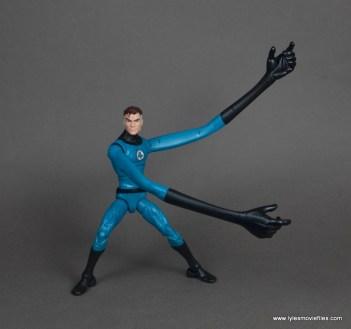 marvel legends mister fantastic figure review - both stretched arms
