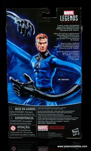 marvel legends mister fantastic figure review - package rear