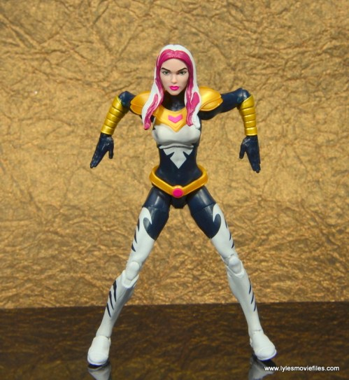 marvel legends songbird figure review - against the wall
