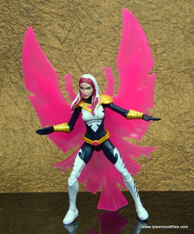 marvel legends songbird figure review - crouching with bird effect