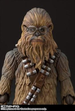 sh figuarts solo chewbacca figure - goggles on