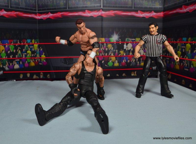 wwe elite 49 randy orton figure review - pounding away at undertaker