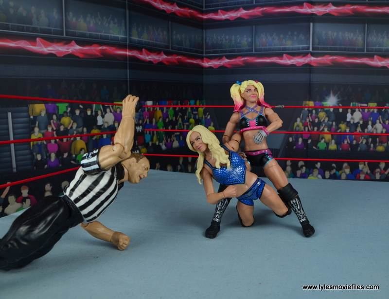 wwe elite 53 alexa bliss figure review -armbar to charlotte flair