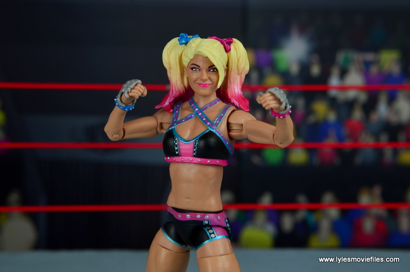 wwe elite 53 alexa bliss figure review -fists up
