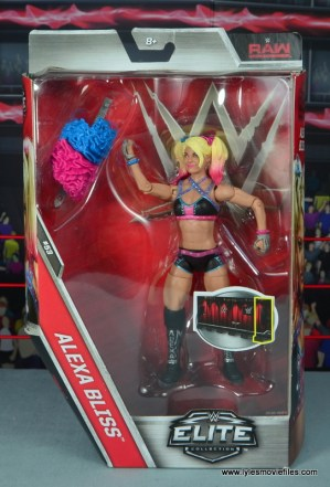 wwe elite 53 alexa bliss figure review - package front