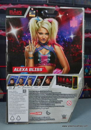 wwe elite 53 alexa bliss figure review -package rear
