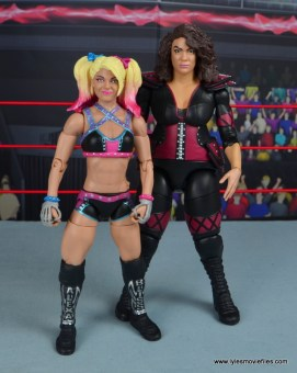 wwe elite 53 alexa bliss figure review -scale with nia jax