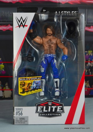 wwe elite 56 aj styles figure review - package front